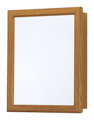 Continental Cabinets Medicine Cabinet Mirrored Swing Door 19-1/4 in. x 15-1/4 in. x 5 in. Oak