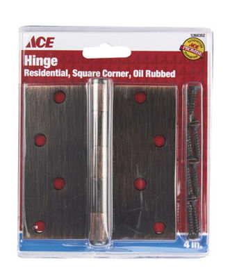 Ace Bronze Residential Hinge 4 in. L Oil-Rubbed Bronze 1 pk