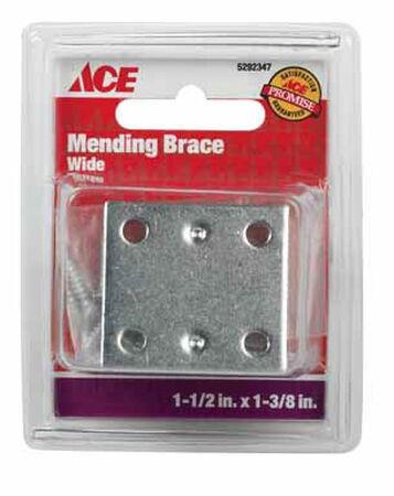 Ace Mending Brace 1-1/2 x 1-3/8 Zinc 4 pk Carded