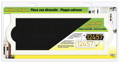 Hy-Ko (5) 4 or (3) 5 in. Plastic Address Plaque Rectangular Off-White/Black