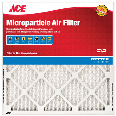 Ace 25 in. L x 14 in. W x 1 in. D Pleated Microparticle Air Filter 11 MERV