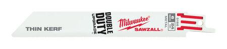 Milwaukee 6 in. L 24 TPI Bi-Metal Sawzall Blade 5 pk