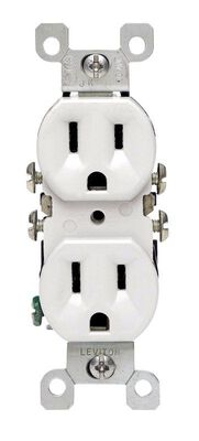Leviton CO/ALR Electrical Receptacle 15 amps 5-15R 125 volts White