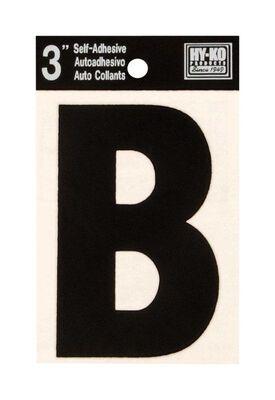 Hy-Ko Self-Adhesive Black 3 in. Vinyl Letter B