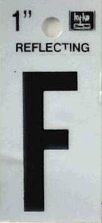 Hy-Ko Self-Adhesive Black Reflective Vinyl Letter F 1 in.