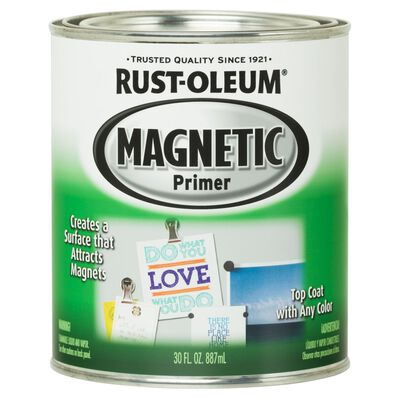 Rust-Oleum Interior Magnetic Primer 1 qt. Dark Grey Magnetic