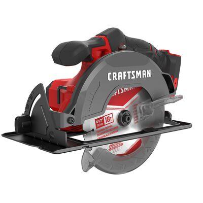 Craftsman 20V MAX 6-1/2 in. Cordless Circular Saw 4000 rpm Keyless 50 deg. Red