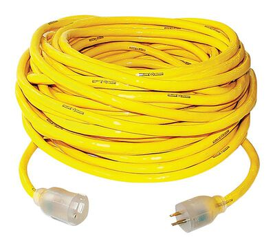 Yellow Jacket Outdoor Extension Cord 10/3 SJTW 50 ft. L Yellow