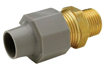 Zurn Qest 1/2 in. CTS x 1/2 in. Dia. Male Brass/Polyethylene Pex Coupling Adapter
