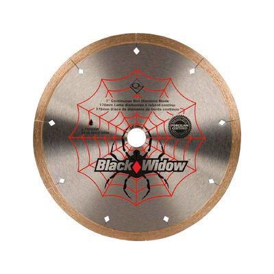 QEP Black Widow 7 in. Continuous Rim Diamond Saw Blade