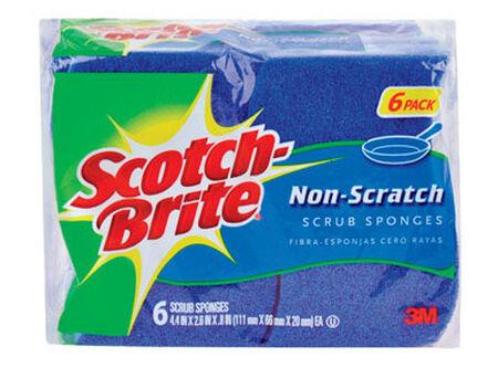 Scotch-Brite Non-Scratch Scrub Sponge 4.4 in. L 6 pk