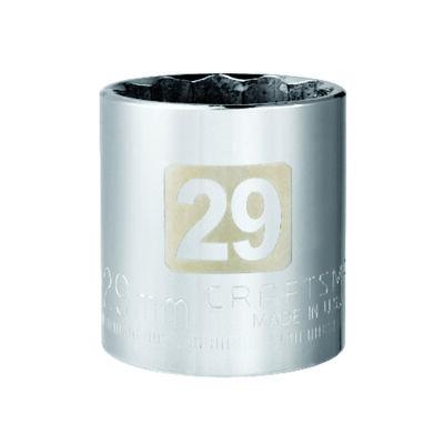 Craftsman 29 Alloy Steel Standard Socket 1/2 in. Drive in. drive