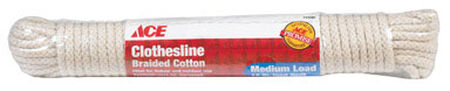 Ace 50 ft. L White Cotton Clothesline