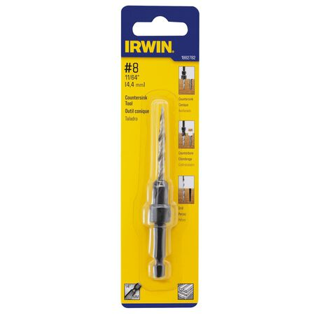Irwin High Speed Steel 11/64 in. Dia. For Wood Countersink