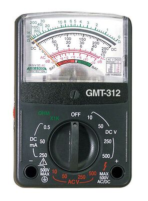 GB Analog Analog Multi-Tester Black