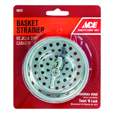 Ace 3-1/4 in. Dia. Basket Strainer Assembly Chrome