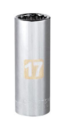 Craftsman 17 Alloy Steel 3/8 in. Drive in. drive Deep Socket
