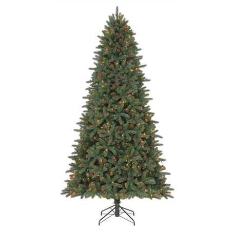 Celebrations 9 ft. Color Changing Prelit Illuminated Grand Fir Artificial Tree 1000 lights
