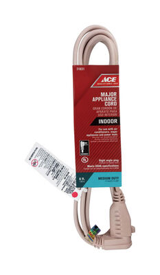 Ace 14/3 SPT - 3 Appliance Cord 6 ft. L Beige