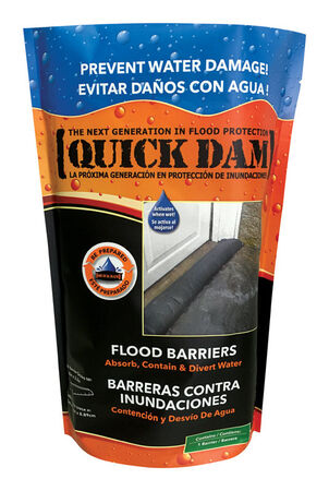 Quick Dam Flood Barrier 3.5 in. H x 6.5 in. W x 60 in. L Flood Barrier 1 pk