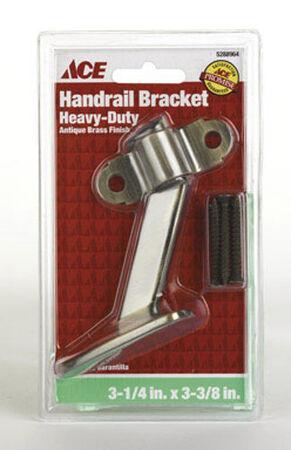 Ace Steel 3-3/8 in. Antique Brass Heavy Duty Hand Rail Bracket