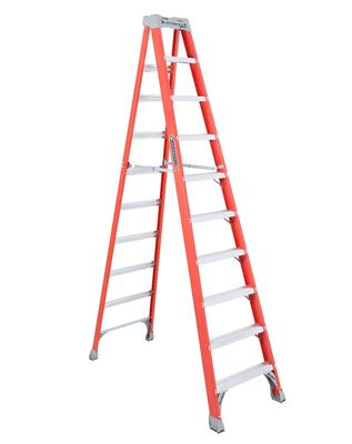 10 ft Louisville FS1510 Fiberglass Step Ladder, Type IA, 300 lb Load Capacity