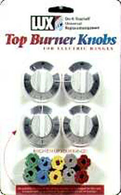 Lux Chrome Replacement Top Burner Knobs