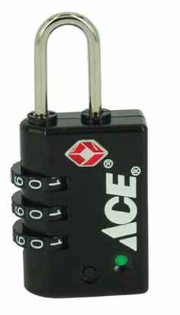 Ace 1/2 in. 3-Dial Combination Steel Luggage Lock