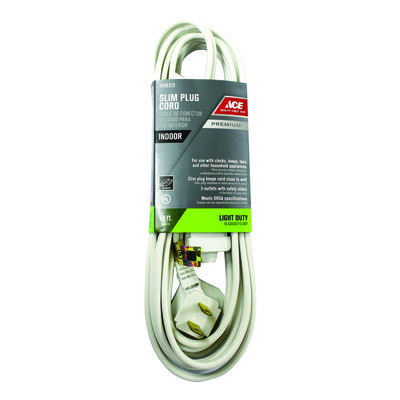 Ace Indoor Extension Cord 12 ft. L White