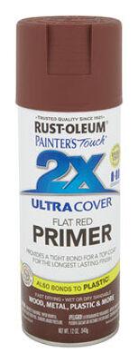 Rust-Oleum Ultra Cover Red Flat 2x Primer Spray 12 oz.