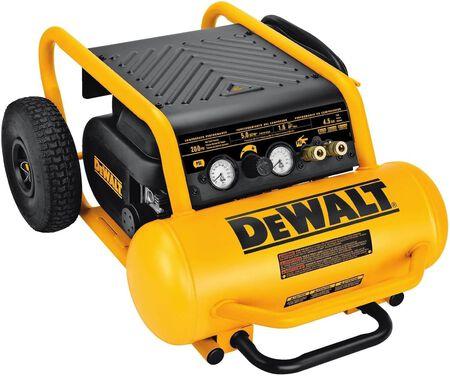 Dewalt 1.6 HP continuous, 225 PSI, 4.5 gallon compressor