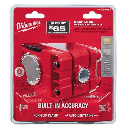 Milwaukee Hole Dozer 1 and 2-1/8 Dia. x 1-3/8 to 2-3/4 in. L Bi-Metal Door Lock Installation Kit