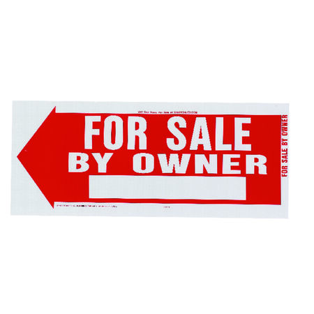 Hy-Ko English 10 in. H x 24 in. W Plastic Sign For Sale by Owner