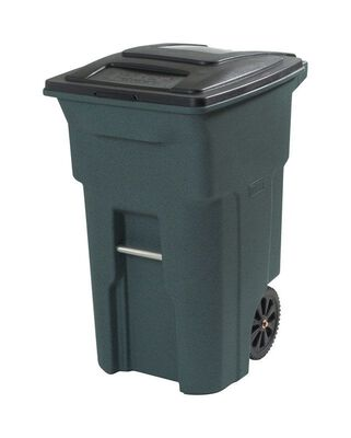 Toter 64 gal. Plastic Garbage Can