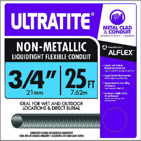 Southwire 3/4 in. Dia. x 25 ft. L Flexible Electrical Conduit LFNC-B Thermoplastic