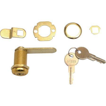 Prime-Line Brass Drawer and Cabinet Lock Brass