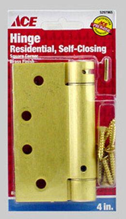 Ace 4 in. Dia. x 4 in. L x 4 in. L Brass Brass Residential Hinge 1 pk