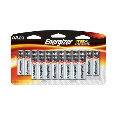 Energizer MAX AA Alkaline Batteries 20 pk Carded