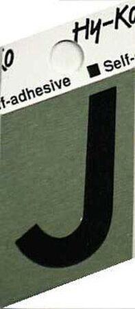 Hy-Ko Self-Adhesive Black 1-1/2 in. Aluminum Letter J