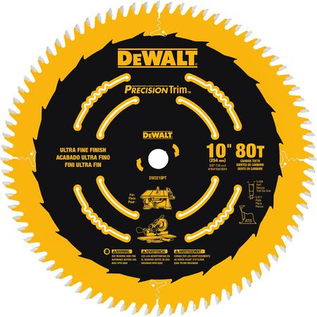 "10"" 80T Fine Crosscutting Saw Blade"