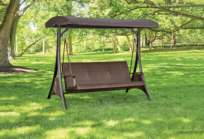Living Accents 3-Seat Swing Brown