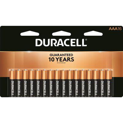 Duracell Coppertop AAA Alkaline Batteries 1.5 volts 16 pk
