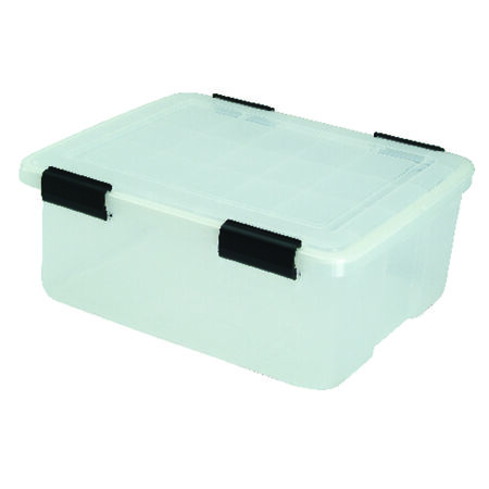 Iris Weathertight Storage Box 7.7 in. H x 15.7 in. W x 30 qt.