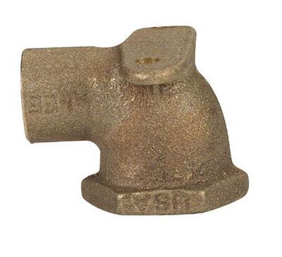 Elkhart 1/2 in. Dia. x 1/2 in. Dia. Sweat To FPT 90 deg. Cast Brass Drop Ear Elbow