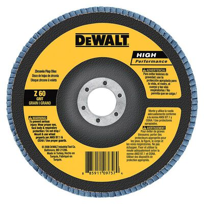"4"" x 5/8"" 80 Grit Zirconia T29 Flap Disc"