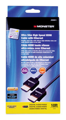 Monster Just Hook It Up 10 ft. L High Speed HDMI Cable with Ethernet HDMI