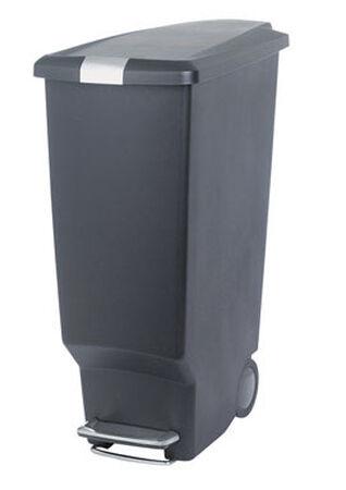 Simplehuman 10.5 Black Slim Step Wastebasket