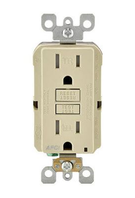 Leviton SmartlockPro AFCI Receptacle 15 amps 5-15R 120 volts Ivory