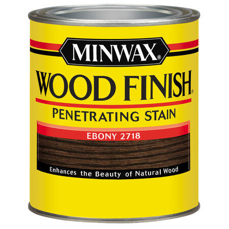 Minwax Wood Finish Semi-Transparent Ebony Oil-Based Oil Stain 1 qt.