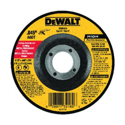 """4-1/2"""" x .045"""" x 7/8"""" Metal Cutting Wheel"""